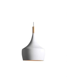 """דגם עירית מעוגל לבן  wattמקסימום max 40w  צבע גוף לבחירה לבן/שחור  בסיס E27  מידות הגוף 24x28cm  דרגת אטימות IP20  מק""""ט LMOM-IRT-B-E27-WH  גוף תאורה תלוי מעוצב בסגנון רטרו  כבלי התליה ניתנים ניתנים לכיוונון עד כ-1 מטר  הגוף בצבע לבן בגימור עץ  גוף התאורה מתאים לסלונים,  פינות אוכל מעל איי מטבח ועוד..."""