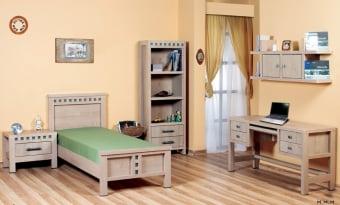 """חדר ילדים דגם M110 חדר ילדים דגם ברק הכולל: מיטת נוער + ספריה + כוורת + כוננית + שידת לילה בעיצוב מהודר הכל עשוי מ- m.d.f מלא ועבה הנשמר לאורך שנים! החומרים הינם בעלי תו תקן ישראלי. מיטה - גובה: 100 ס""""מ רוחב: 89 אורך: 205. שידה - גובה: 51 ס""""מ רוחב: 65 אורך: 40. כוננית - גובה: 180 ס""""מ רוחב: 65 אורך: 37. שולחן - גובה: 75 ס""""מ רוחב: 140 אורך: 50. כוורת - גובה: 53 ס""""מ רוחב: 120 אורך: 28. המחיר הינו למיטה במידה סטנדרטית 80/190 [מידת המזרון]. המחיר אינו כולל מזרון. ניתן להזמין בגוונים: אגס מוזהב, דובדבן, אגוז, אלמון, שיטה, אגס חום, מולבן וונגה. המחיר נכון ל - 12תשלומים ללא ריבית בכרטיס אשראי.  אופציה לארון ברק"""