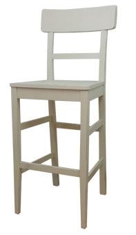 """כסא בר דגם מילאנו הכסא עשוי מעץ מלא בגוון לבן עם משענת גבוהה, נעים ונוח לישיבה ארוכה וסעודה נעימה. מיועד לפינת אוכל, למסעדות, בתי קפה ועוד. כסא רחב וחזק במיוחד, מבנה המושב ייחודי ונוח לישיבה עם תמיכה מלאה לגב. הכסא עשוי עץ מלא חזק ומסיבי המקנה חוזק ויציבות לכסא. גובה מושב: 65 ס""""מ. ניתן לשלם ב- 12 תשלומים שוים ללא ריבית והצמדה."""