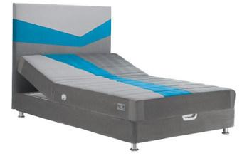 """מיטה וחצי עמינח XL BED דגם מרתון כחול + ראש מיטה מרופד מערכת קפיצי עמינח Millennium - מערכת קפיצים ייחודית מפלדה איכותית בעלת כמות עצומה של קפיצים בעלי 6 פיתולים המעניקים גמישות ותגובה טובים יותר מקפיץ רגיל. מרכז בריאותי Plus -עשוי פלדה קפיצית, מעניק תמיכה לחלק הרגיש של עמוד השדרה ומונע את שקיעת המזרן במרכזו(תופעת הערסל). ארגז מצעים מרווח, ברמת גימור גבוהה, עשוי עץ סנדוויץ מצופה פורמייקה, מתרומם ע""""י בוכנות, קל לניקוי ולתחזוקה רגלי מתכת בגוון אפור מטאלי. דגמי מיטה וחצי של עמינח מאושרים ומומלצים ע""""י האגודה הישראלית לכירופרקטיקה-המומחים לבריאות הגב. דגמי מיטה וחצי של עמינח נושאים את תו האיכות הבינלאומי ISO 9001 וכמו כן נושאים תן תקן איכות של מכון התקנים הישראלי (מתי). ראש מתרומם Up&Down חשמלי, להרמה והורדה של אזור הראש והגב בקלות, מבלי לצאת מהמיטה. מערכת Safe Sleep למניעת קרינה אלקטרומגנטית. מידות לשינה: 1.20,1.40/200 5 שנות אחריות! המחיר מתייחס למיטה במידות 120/200, עם ארגז מצעים וראש מתכוונן עם מנגנון חשמלי וראש מיטה."""