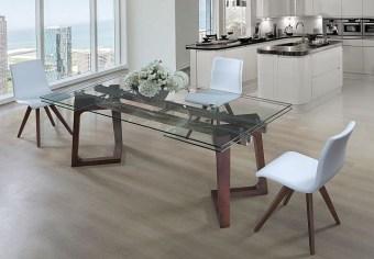 """שולחן אוכל מזכוכית + 6 כסאות דגם אביב פינת אוכל מזכוכית הבנוייה מהחומרים הטובים ביותר ועמידה לשנים. שולחן זכוכית מלבני הנפתח ל- 300 ס""""מ עם רגליים מעוצבות. פלטת השולחן מזכוכית במראה ייחודי. המערכת כוללת 6 כסאות אוכל מרופדים עם רגלי עץ, בקווים נקיים ומודרניים. ריפוד הכסאות חזק במיוחד ומצטיין בניקוי קל ומהיר. לשולחן 2 הגדלות של 50 ס""""מ. מידות השולחן: אורך: 200 ס""""מ, רוחב: 100 ס""""מ. נפתחת ל- 300 ס""""מ. גוון כסאות לבחירה: לבן ואפור. המחיר הינו לשולחן + 6 כסאות מרופדים . המחיר נכון ל- 12 תשלומים ללא ריבית בכרטיס אשראי."""