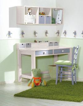 """שולחן כתיבה דגם אופיר שולחן כתיבה מעוצב עם 2 מגירות לחדר ילדים, עם ידיות מעוצבות. שולחן הכתיבה עשוי עץ אורן מלא בעל גימורים איכותיים, הנשמר לאורך שנים. מידות בס""""מ: רוחב: 125 עומק 61. עובי פלטה: 2.8 ס""""מ. גוון: מולבן. צבעי שילוב לבחירה: אפור, סגול, תכלת, ורוד ומולבן. *אופציה לכוורת אופיר בתוספת תשלום. כוורת תלוייה מעוצבת מעץ אורן מלא בעיצוב נקי, הכוללת: שלושה תאים ושתי מגירות. גוון: מולבן. מידות כוורת בס""""מ: רוחב: 125, עומק: 30, גובה: 40. *אופציה לכסא בתוספת תשלום. כסא מעץ בוק מלא מסופק ללא כרית. צבעי כסא לבחירה: לבן, אפור, סגול, תכלת, ורוד ומולבן. המחיר נכון לשולחן כתיבה בלבד ללא כוורת וכסא וללא אביזרים נלווים. 5 שנות אחריות (1 שנת אחריות מלאה בבית הלקוח + 4 שנות אחריות על חלקים בלבד) בכפוף לתעודת האחריות. ניתן לשלם ב-12 תשלומים ללא ריבית בכרטיס אשראי. *מחיר הובלה והרכבה הינו ממטולה ועד דימונה למעט אזורים חריגים, מעבר לנקודות אלו בתיאום טלפוני."""