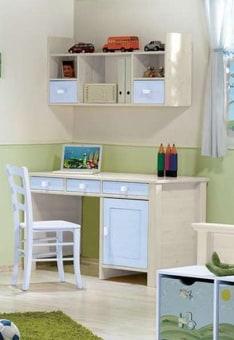 """שולחן כתיבה דגם אריאל שולחן כתיבה מעוצב עם 3 מגירות וארונית לחדר ילדים, עם ידיות מעוצבות. שולחן הכתיבה עשוי עץ אורן מלא בעל גימורים איכותיים, הנשמר לאורך שנים. מידות בס""""מ: רוחב: 140 עומק: 60. גוון: מולבן. צבעי שילוב לבחירה: תכלת, מולבן. *אופציה לכוורת אריאל בתוספת תשלום. כוורת תלוייה מעוצבת מעץ אורן מלא בעיצוב נקי, הכוללת: שלושה תאים ושתי מגירות. גוון: מולבן. מידות כוורת בס""""מ: רוחב: 125, עומק: 30, גובה: 50. *אופציה לכסא בתוספת תשלום. כסא מעץ בוק מלא מסופק ללא כרית. צבעי כסא לבחירה: לבן, אפור, סגול, תכלת, ורוד ומולבן. המחיר נכון לשולחן כתיבה בלבד ללא כוורת וכסא וללא אביזרים נלווים. 5 שנות אחריות (1 שנת אחריות מלאה בבית הלקוח + 4 שנות אחריות על חלקים בלבד) בכפוף לתעודת האחריות. ניתן לשלם ב-12 תשלומים ללא ריבית בכרטיס אשראי. *מחיר הובלה והרכבה הינו ממטולה ועד דימונה למעט אזורים חריגים, מעבר לנקודות אלו בתיאום טלפוני."""