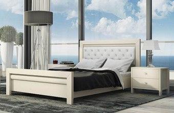 """מיטה זוגית דגם MA 11 מיטה זוגית קלאסית מהקולקציה החדשה, עשוייה מ M.D.F, בעלת קווים ישרים, נקייה ואלגנטית עם טאצ' מודרני. המיטה מצויידת במשענת מרופדת בגב - לנוחות מירבית בעת צפייה בטלויזייה או קריאת ספר לפני השינה. המיטה מעוצבת, מיוצרת מחומרי גלם איכותיים וברמת גימור מוקפדת וגבוהה. החומרים הינם בעלי תו תקן ישראלי. מידות מיטה בס""""מ: גובה: 100 רוחב: 149 אורך: 202. המיטה מתאימה למזרן 140\190 (ניתן לקבל במידות שונות). המחיר אינו כולל מזרן, ניתן להוסיף מזרן בתוספת תשלום. * אופציה לשידות לילה תואמות בתוספת תשלום. מידות שידה בס""""מ: גובה: 49 רוחב: 56 עומק: 40. המחיר נכון ל-12 תשלומים ללא ריבית בכרטיס אשראי."""