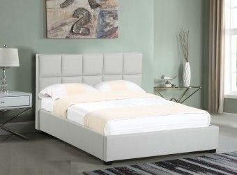 מיטה זוגית מרופדת דגם RO-237 מיטה זוגית מרופדת בעיצוב עדכני וחדשני, בעלת ראש מיטה מרופד בתפירת ייחודית. עבודת רפדות מקצועית ורמת גימור מושלמת. בסיס המיטה עשוי מעץ אורן חזק ומסיבי נשמר לאורך שנים. המיטה מוגבהת מהריצפה על ידי רגלי עץ מעוצבות איכותיות וחזקות במיוחד. המיטה מרופדת בבד דוחה כתמים ומאוד נעים למגע. המיטה מתאימה למזרן במידה 140X190. המחיר הינו למיטה+ראש מיטה ללא מזרן. ניתן להזמין במידות נוספות בתוספת תשלום. 12 תשלומים שווים ללא ריבית והצמדה. לפרטים נוספים לייעוץ ולהזמנות  גוון ריפוד לבחירה :