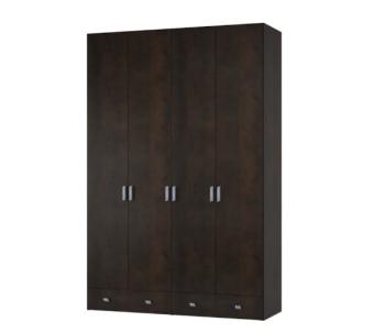 """ארון בגדים בעל 4 דלתות MDF   2 מגירות גדולות לאחסון רב..   מידות: 55x236x160 ס""""מ   יש אפשרות להזמין בגודל שונה או בחלוקה לפי צרכי הלקוח."""