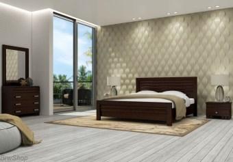 """חדר שינה הכולל:   מיטה + 2 שידות לילה + טואלט + מראה בעיצוב מיוחד.   ללא מזרון.   גודל מיטה חיצוני 202x150 ס""""מ   מיטה זוגית תאומת למזרן 190x140 ס""""מ   יש אפשרות להזמין בגודל שונה ולהוסיף ארגז מצעים   אופציה להפרדה יהודית ( מיטה מופרדת לשני מזרנים 190x80 ס""""מ כל אחד ושני ארגזי מצעים)"""