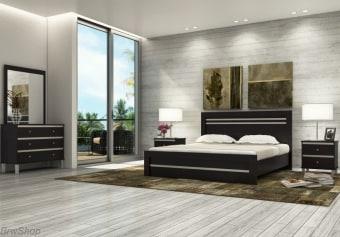 """חדר שינה הכולל:   מיטה + 2 שידות לילה + טואלט + מראה בעיצוב מיוחד.   ללא מזרון.   גודל מיטה חיצוני 201x150 ס""""מ   מיטה זוגית תאומת למזרן 190x140 ס""""מ   יש אפשרות להזמין בגודל שונה ולהוסיף ארגז מצעים   אופציה להפרדה יהודית ( מיטה מופרדת לשני מזרנים 190x80 ס""""מ כל אחד ושני ארגזי מצעים)"""