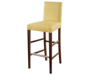 כסא בר מעוצב עץ מלא.   מאוד נוח לישיבה. כסא יציב. עם מעמד רגליים.   צבע רגל - וונגה. צבע ריפוד - שמנת.   מידות:   רוחב 45   עומק40   גובה מושב 72   גובה כללי 106