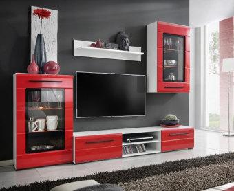 """מזנון טלוויזיה בעיצוב מודרני צעיר ומיוחד.   דלתות של ויטרינות בשילוב זכוכית.   תאורת LED כוללת במחיר המזנון.   מידות:   רוחב - 240 ס""""מ.   גובה - 195 ס""""מ.   עומק - 46 ס""""מ.   מיוצר באירופה."""