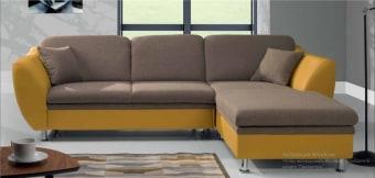 """סלון פינתי תוצרת אירופה מרהיב ביופיו איכותי במחיר משתלם ביותר.   הספה נפתחת למיטה המאפשרת שינה נוחה ליום יום.   ארגז מצעים רחב ונוח ביותר לאחסון רב.   מצב סגור: 185x268 ס""""מ   מצב פתוח: 120x205 ס""""מ (נטו משטח שינה)"""