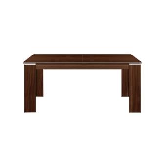 """שולחן לפינת אוכל בגודל 160*90 ס""""מ, נפתח ל 200 ס""""מ.   עיצוב קלאסי, אלגנטי. מתאים לאירוח עד 10 אנשים.   עשוי סיבית עם MDF. צבע אגוז חום.   גובה 75 ס""""מ.   ניתן להוסיף כסאות בתוספת תשלום   ."""