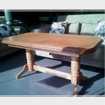 """שולחן סלון תרנספורמר, עץ, מתרומם ונפתח ל-שולחן אוכל.   צבעים לבחירה: אגוז, דובדבן.   מידות :   רוחב: 66 ס""""מ.   אורך: 126 ס""""מ, נפתח עד 166 ס''מ.   גובה: 62 ס''מ, עולה עד 80 ס''מ."""
