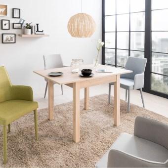 """שולחן לפינת אוכל נפתח.  עשוי MDF וסיבית.  מידות  80*80 ס""""מ, נפתח ל120 ס""""מ. גובה 76.5 ס""""מ.  צבעים  לבחירה: אלון ולבן מט.  פלטת הרחבה מאוחסנת בחוץ.  תוצרת גרמניה.   כסאות בתוספת תשלום:  כסא מעוצב URSULA  כיסא מעוצב לפינת אוכל או לכל מטרה אחרת. עיצוב מדהים.  מושב מפלסטיק ABS, רגליים מעץ מלא. מאוד נוח.  צבעים לבחירה  : לבן, שחור, ירוק, אפור, אדום, טורקיז, צהוב.  מידות  : 48*56 ס""""מ, גובה 84 ס""""מ, גובה מושב 43 ס""""מ  הרכבה עצמית קלה.  ———————————–  כסא מעוצב לפינת אוכל OSCAR  דיזיין עכשווי וצעיר. מאוד נוח לישיבה. רגליים מעץ מלא. מושב מרופד בדמוי עור.  צבעים  : שחור, לבן, ירוק, אפור, אדום, טורקיז, צהוב.  מידות  : 48*54, גובה 84 ס""""מ  הרכבה עצמית קלה.  ———————————–  כסא לפינת אוכל דגם CITY  מרופד דמוי עור קשיח.  בסיס מתכת. ישיבה נוחה מאוד.  קל לניקוי ואחסנה.  צבעים  לבחירה: שחור, בז' ולבן.  מידות  : 42.5* 48 ס""""מ, עומק מושב 40, גובה משענת 49, גובה כסא 90, גובה מושב 44 ס""""מ.  מגיע מורכב.  צבע הכסאות ניתן לציין בהערות בהזמנה."""