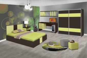 חדר ילדים עשוי מלמין יצוק    מיטה וחצי 120/190 מעוצבת    ספריה דקורטיבית    ארון ההזה 160/240