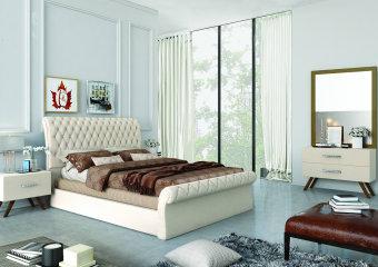מיטה זוגית מרופדת ברצלונה  כולל : מיטה זוגית 140/190 או 160/190  עשוי בד אלפנט רחיץ ודוחה כתמים  בסיס המיטה עץ מלא  ישנה האפשרות למידות נוספות