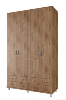 """ארון 4 דלתות וארבע מגירות גדולות במיוחד דגם  ROY  .  הארון עשוי שבבית מצופה מלמין במבחר גוונים.  כל מרכיבי הארון עשויים מחומרים בעלי תו תקן ישראלי.  מידות:רוחב 160 ס""""מ, גובה 240 ס""""מ, עומק 55 ס""""מ  עומק המדפים 46 ס""""מ, עומק המגרות: 35 ס""""מ.  סידור פנים: סידור פנימי הכולל תלייה ומדפים.  לא ניתן לפתוח את דלת הארון יחד עם המגירה שמתחתיה.  ניתן לשלב מגירות בגוונים בתוספת מחיר.  ניתן להזמין במידות שונות בתוספת מחיר.    הידיות בתמונה להמחשה בלבד, יסופק עם ידיות שבמלאי.  ניתן לשדרג את  הידיות  בתשלום."""