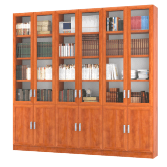 """כוננית, ספריה, ארון קודש, 6 דלתות דגם  SAHAR  , לספרים, לקלסרים או לכל מטרה אחרת.  עשוייה עץ סנדביץ, הכוננית בעלת 6 דלתות עליונות זכוכית, והתחתונות דלתות  MDF  , בגימור פורמיקה במבחר גוונים.  גוף הארון עשוי עץ סנדוויץ, החזיתות עשויות  MDF  .  מסגרת הדלתות עשויה פרופיל מעוגל.  מרכיבי הכוננית עשויים מחומרים בעלי תו תקן ישראלי.  מידות חיצוניות:  רוחב 240 ס""""מ,  עומק 32 ס""""מ,  גובה 230 ס""""מ.  ניתן לבחור מדפים עשויים  MDF  בעובי 28 מ""""מ (מומלץ) או עץ סנדוויץ בעובי 17 מ""""מ. (בשדרוג למדפי  MDF  יוחלפו רק המדפים הניידים).  הידיות בתמונה להמחשה בלבד, יסופק עם ידיות שבמלאי.  ניתן לשדרג את  הידיות  בתשלום."""
