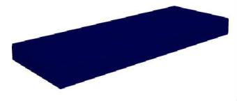 """מזרן פולימר קשיח יחיד 80X190  ללא קפיצים דגם  NAVY  14.  מזרן פולימר (ספוג) קשיח, מרופד בבד כחול איכותי.  עובי המזרן כ-14 ס""""מ"""
