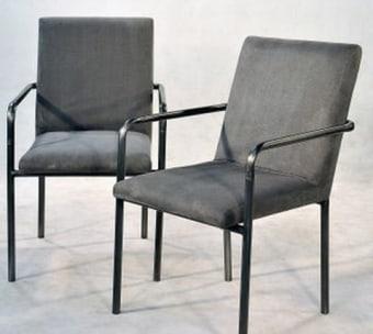 """כסא מרופד עם קונסטרוקצית ברזל רוחב: 0 ס""""מ אורך: 0 ס""""מ גובה: 0 ס""""מ"""