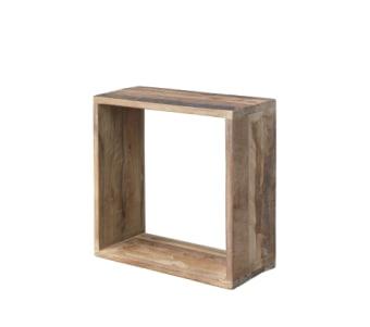 """קופסא לתליה מעץ מלא רוחב: 15 ס""""מ אורך: 35 ס""""מ גובה: 35 ס""""מ"""