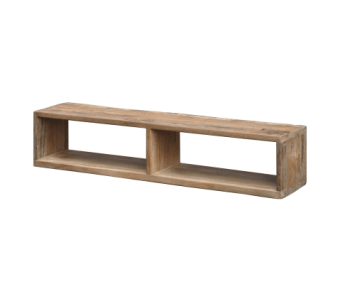"""קופסא-מדף לתליה מעץ מלא רוחב: 15 ס""""מ אורך: 75 ס""""מ גובה: 15 ס""""מ"""