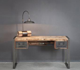 """שולחן עבודה מעץ ממוחזר רוחב: 60 ס""""מ אורך: 150 ס""""מ גובה: 80 ס""""מ"""