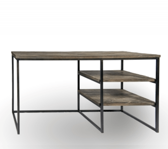 """שולחן עבודה עשוי עץ אלון מלא רוחב: 58 ס""""מ אורך: 140 ס""""מ גובה: 77 ס""""מ"""