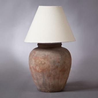 """מנורה מעוצבת עשויה טרקוטה רוחב: 0 ס""""מ אורך: 0 ס""""מ גובה: 0 ס""""מ"""
