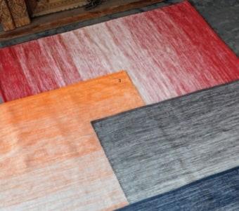 """שטיח כותנה ארוג בעבודת יד במגוון צבעים וגדלים רוחב: 120 / 160 ס""""מ אורך: 180 / 230 ס""""מ"""