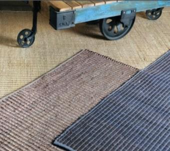 """שטיח בגווני בז' עשוי עבודת יד מחומרים טבעיים רוחב: 160 ס""""מ אורך: 230 ס""""מ"""