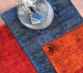 """שטיח ויסקוזה וצמר ארוג בעבודת יד רוחב: 160 ס""""מ אורך: 230 ס""""מ"""