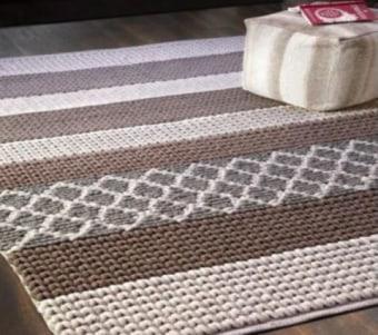 """שטיח בצבעים טבעיים עשוי צמר רוחב: 160 ס""""מ אורך: 230 ס""""מ"""