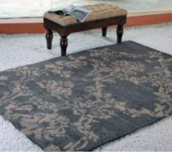"""שטיח מעוצב ומעוטר בגווני אפור רוחב: 160 ס""""מ אורך: 230 ס""""מ"""