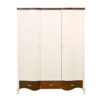 ארון 3 דלתות  F3163F 'ארון וינטאג'  מידות :  1656*600*2100  צבעים: אופוויט וחום