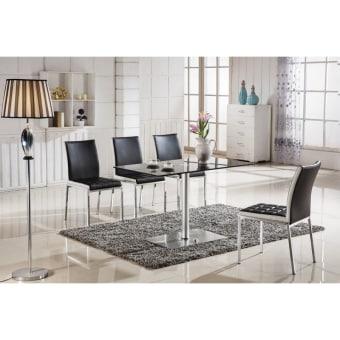 """שולחן זכוכית  זכוכית מחוסמת, רגליים אלומיניום.  סגנון מודרני ונקי.  מידות  :  120 ס""""מ רוחב  עומק 70 ס""""מ  גובה 75 ס""""מ"""