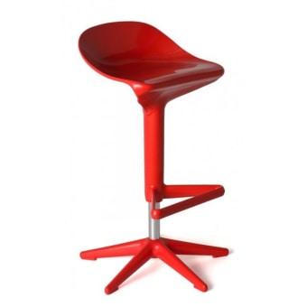 """כיסא בר מעוצב מפלסטיק קשיח ומתכת  צבעים: לבן, שחור, אדום, כתום  מינימום 4 יחידות  לא כולל הובלה והרכבה  - 12 חודשי אחראיות    זמן אספקה עד 60 יום, המחיר כולל מע""""מ+מכס+שילוח  מידות:  52*52*72.5-92.5 SH:56-76"""