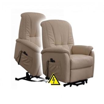 """·  כורסא חשמלית  לקשישים אורטופדית מושלמת מפנקת דמוי עור  PU  איכותי רך קל לנקוי  כורסה סעודית  איכותית במיוחד  כורסא חשמלית  הופכת את חיי היום יום לקלים יותר למוגבלים בתנועה. תוצרת  Rest  &  Comfort  תופסת מקום מינימלי בחדר  .  כורסא חשמלית  מלאה ממצב שכיבה למצב ישיבה ועד למצב עמידה יציאה זקופה. מידות של  כורסא חשמלית  בס""""מ פנים: רוחב מושב 55 עומק 53 גובה הגב פנימית 56 מידות חיצוניות: רוחב כולל ידיות 80 עומק הכורסה במצב סגור 77 עומק במצב פתוח מכסימלי 135 גובה חיצוני במצב סגור 88  ניתן לבקש ב  PU  שחור או חום כהה על פי המלאי הקיים.   כורסת טלוויזיה שירן"""