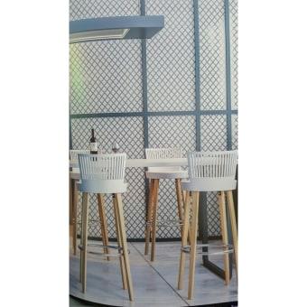 כסא בר רגלי עץ מושב פלסטיק(bar stool)  הכיסא בר מתאים לאי של 90  רוחב הכיסא:39  הרגליים מעץ  an alegnat bar stool  suitable for bar of 90 cm   כסא בר רגלי עץ מושב פלסטיק 9985(bar stool)