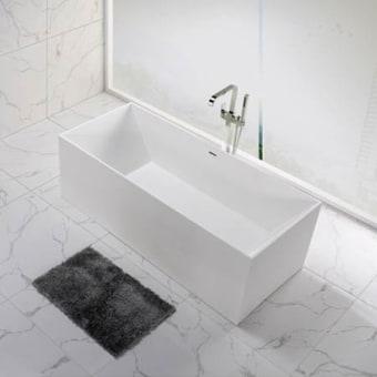 אמבטיה אבן מלאכותית      צבע : לבן מט      גודל: 73*175 , גובה : 57