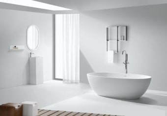אמבטיה אבן מלאכותית      צבע: לבן מט      גודל: 178*79      גובה: 54