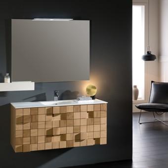 ארון עץ קוביות ללא כיור      גודל: 46*108      גובה: 48
