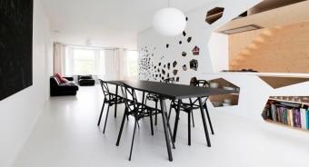 כסאות מעוצבים לפינת אוכל מודרנית Chair One  כסא פינת אוכל עשוי אלומיניום בצורת כדור כדורגל