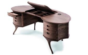 שולחן כתיבה אלגנטי Curve  Curve שולחן כתיבה אלגנטי עשוי מעץ אשא מלא  מידות : 2.14 מ' אורך , 0.90 מ' עומק , וגובה 0.80 מ'.