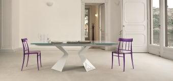 שולחן פינת אוכל Prora  שולחן פינת אוכל איטלקי נפתח עם רגליים מיוחדות