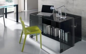 שולחן כתיבה מזכוכית Server  שולחן כתיבה משוכלל מזכוכית שחורה  Archiexpo