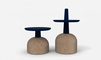 Assemblage שולחן צד פיסולי ופונקציונלי  Assemblage מבית Bonaldo איטליה