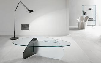 שולחן סלון/קפה זכוכית מודרני  שולחן קפה מזכוכית, בעיצוב פיסולי של המעצב קארים ראשיד  לחץ כאן לצפייה בעוד מגוון שולחנות קפה/סלון מעוצבים