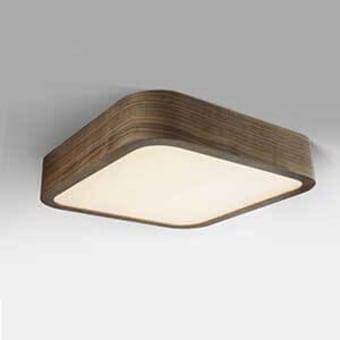 גוף תאורה צמוד תקרה מרובע פינות מעוגלות 60*60  בגווני עץ לבחירת הלקוח  תאורת לד מובנה 75W