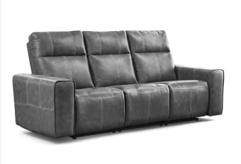 ספה מעוצבת בנוחות מקסימלית מבית רילקסון קנדה. ספה נוחה במיוחד, בעלת גבים תומכים, במבנה אורגונומי נכון, כוללת ריקליינרים. שלדת פלדה, מסגרות עץ וקפיצי פלדה - באיכות קנדית, ללא פשרות.  תוצרת קנדה ספת תלת מעוצבת בעלת 2 מושבים רחבים שילוב מנצח בין עיצוב לנוחות בריפוד עור - תפירה כפולה בקונטרסט ניתן להזמנה ללא קונטרסט ניתן להזמנה במגוון בדי מיקרופייר רחיצים ניתן להזמנה ב3 מושבים סטנדרטים צרים, ספת מיני ועוד  מידות ספת 2 מושבים רחבים: 210  ספת 3 מושבים סטנדרטים: 220